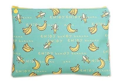 cosanter para documentos A4 cremallera Neceser (piel estuche bolsa, fruta Diseño, color Plátano