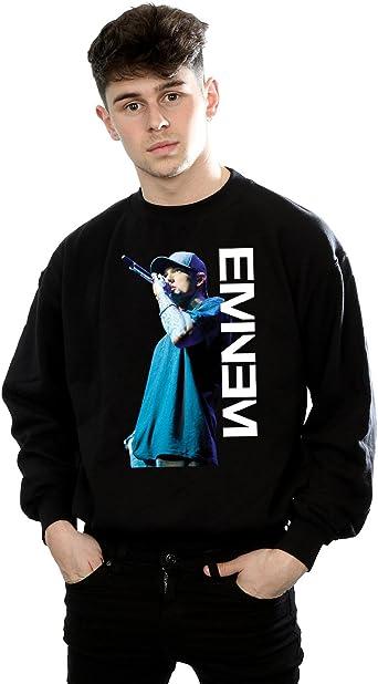 Eminem Uomo Mic Pose Felpa