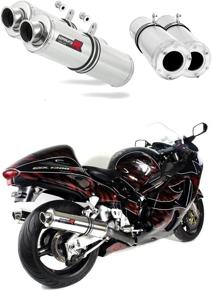 Exhaust silencer muffler Dominator ROUND compatible with GSXR GSX 1300 R HAYABUSA 99-07 1999-2007 DB KILLER