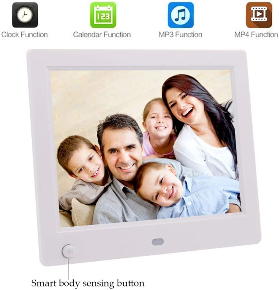 HD Resolution Advertising Media Player,Support Automatic Switch Machine Electronic picture frames Digital Picture Frame 8 Inch Digital HD Picture Frame LED Picture Videos Frame with Motion Sensor