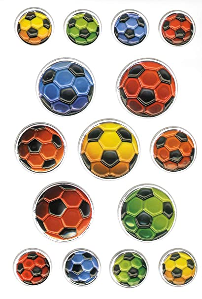 Pegatina HERMA MAGIC, multicolor Balones, con relieve, PG/CEVN-1BL ...