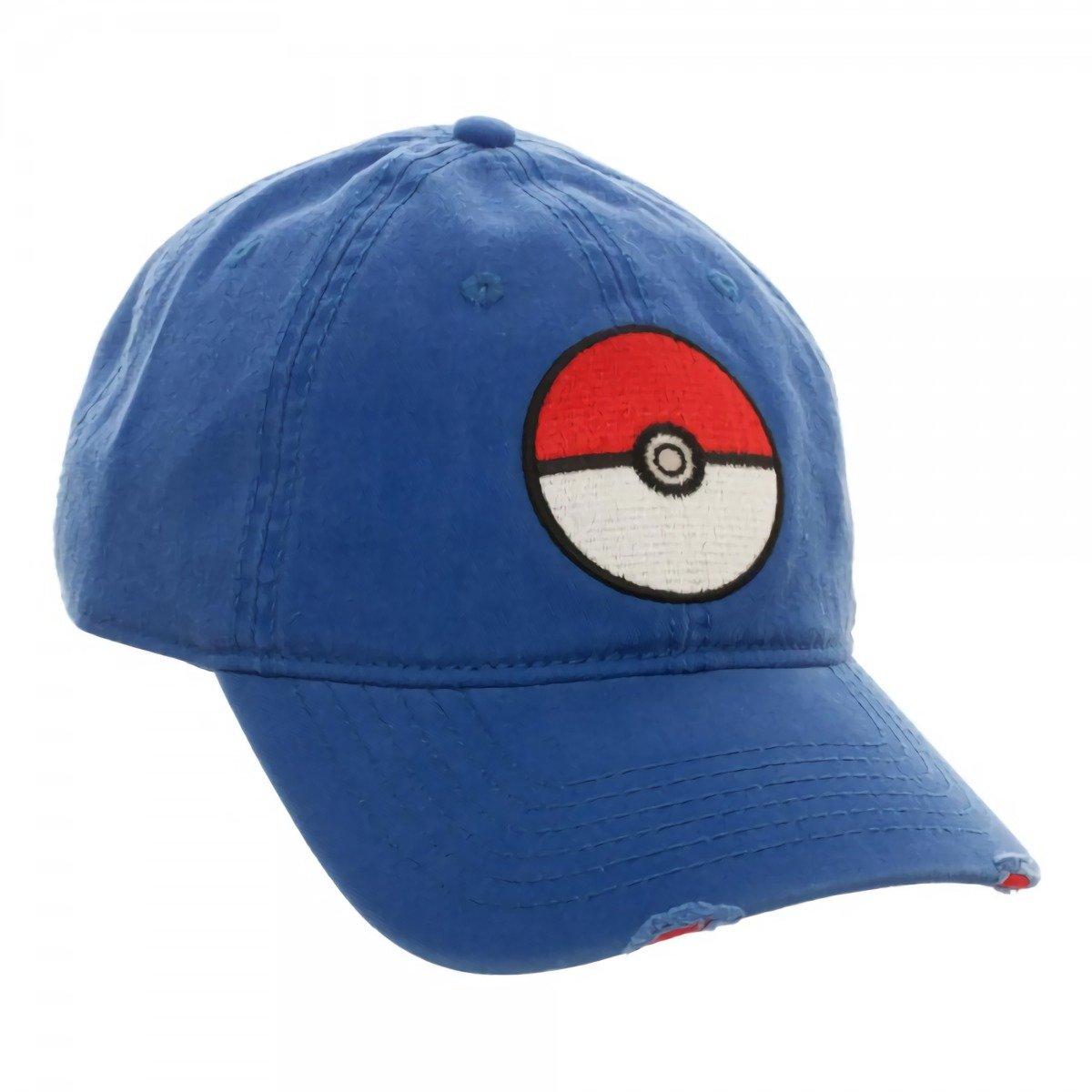 BIOWORLD 190371339189 Pokemon XY-Blue Adjustable Dad Snapback Cap Hat
