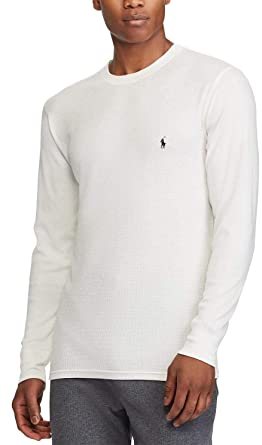 af37f8fe82f Polo Ralph Lauren Men s Waffle Knit Crew Neck Shirt at Amazon Men s ...