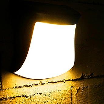 Lámpara de pared solar, para jardín, valla de luz, 3 luces LED para césped o patio, iluminación para cobertizo, escalera, luz de seguridad: Amazon.es: Iluminación