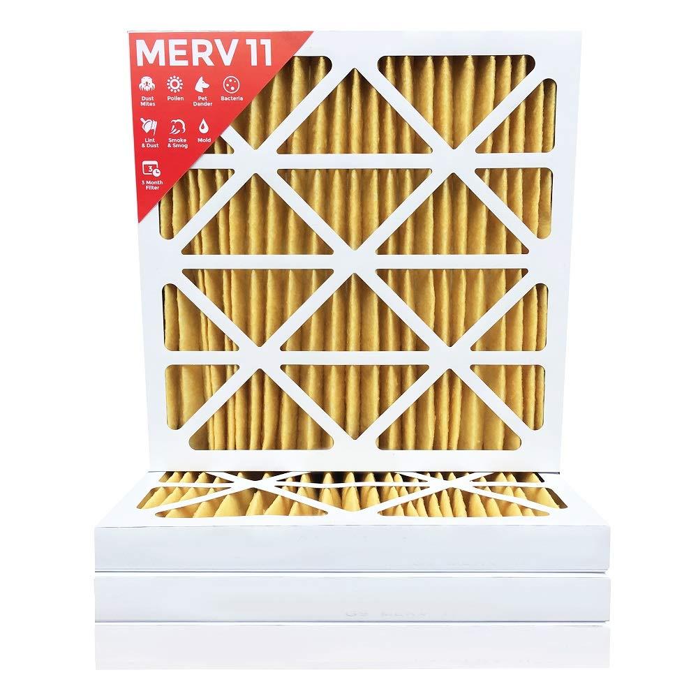 20x20x2 MERV 11 (MPR 1000) AC Furnace 2'' Inch Air Filter - 12 Pack