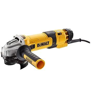 DeWalt DWE4257-QS - 125 mm, electrónica, embrague, arranque suave, bloqueo y re-arranque (1500 W, 2800 to 10 000 r/min): Amazon.es: Bricolaje y herramientas
