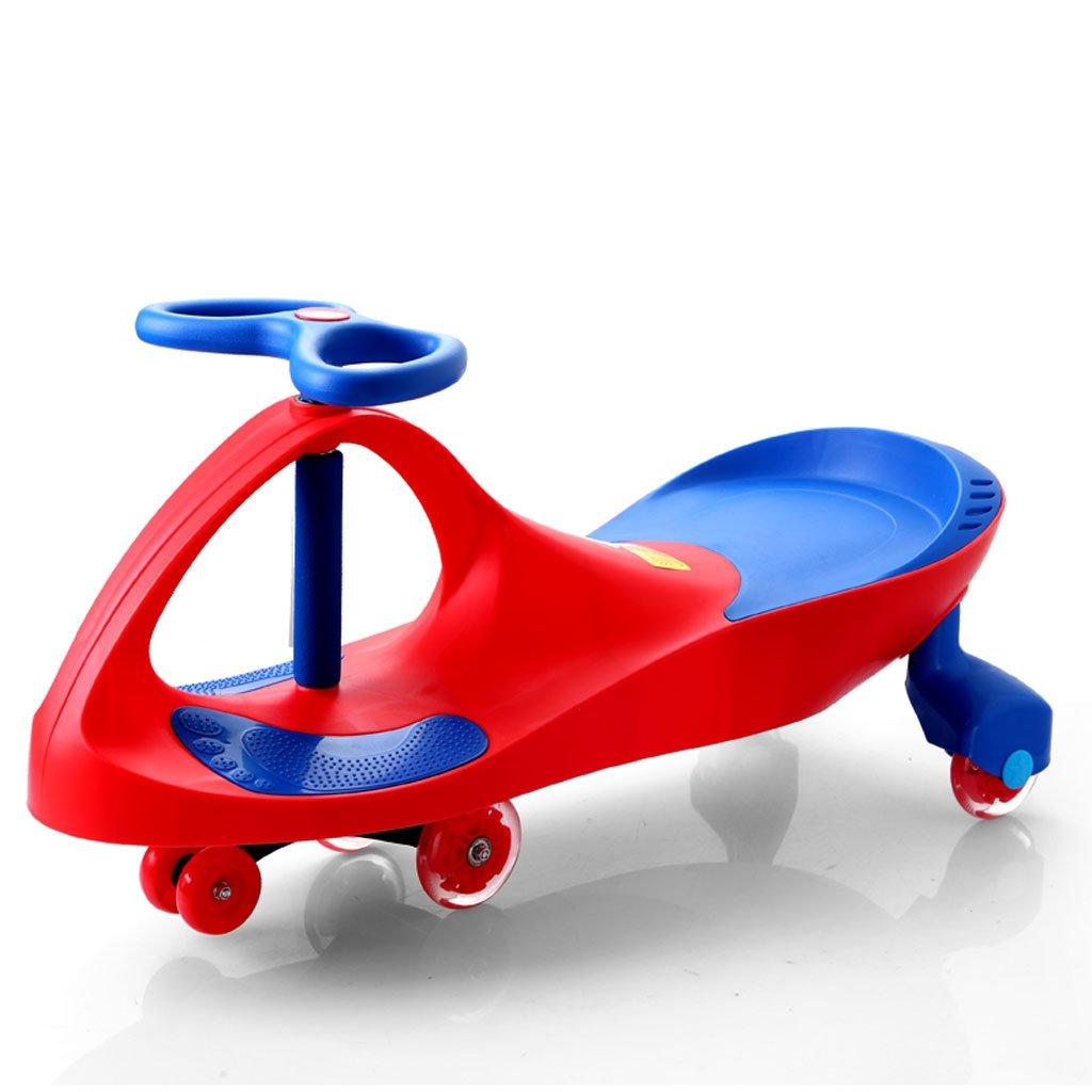 Kinder Twist Auto Baby Spielzeug Schaukel Auto Baby Slide Yo Auto Flash-Rad Alter 3 Jahre alt oder älter 81  30.5  41.5cm (Farbe   ROT)