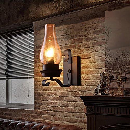 Lovedima Vintage Rustic Single Light Metal Wall Sconce Lamp Indoor