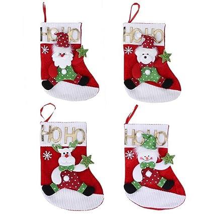 HAPPYWINTER Decoraciones de Navidad Papá Noel Muñeco de Nieve Elk Oso Calcetines Bolsa de Regalo de