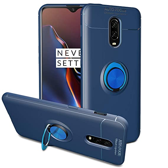 size 40 86613 fedad OnePlus 6T Case, iMangoo Ring Holder Rotational Kickstand Oneplus 6T Case  Soft Bumper Case Slim Fit Armor Protective Shell [Compatible with Magnetic  ...