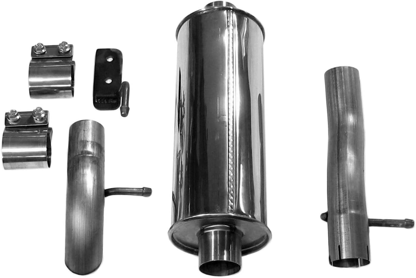 Dynomax 39522 Ultra Flo Polished Stainless Steel Cat-Back Single Exhaust System