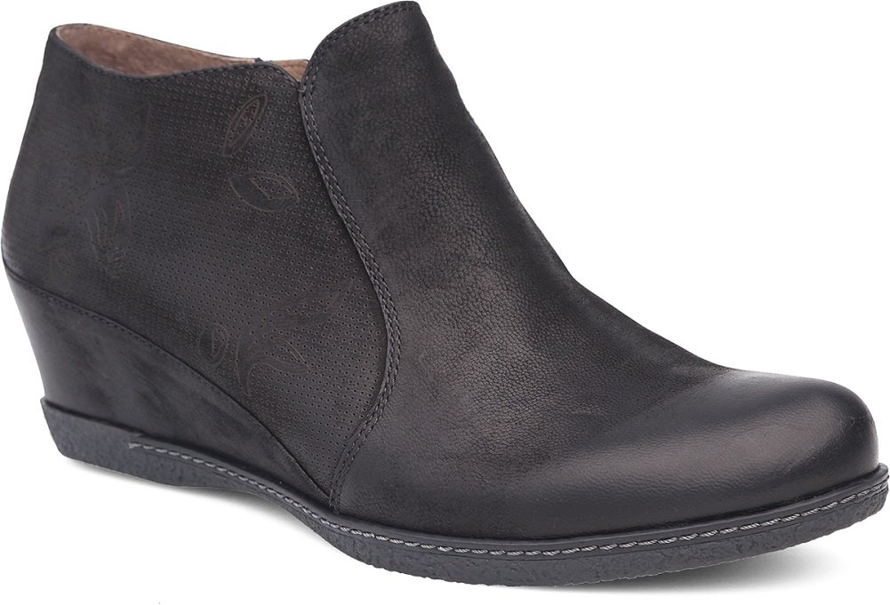 Dansko Women's Luann Ankle Boot B072WH9K53 38 M EU (7.5-8 US)|Black Burnished Nubuck
