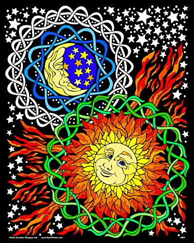 Sun and Moon Fuzzy Velvet Coloring Poster