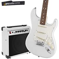 Complete Electric Guitar Beginner Starter Set with Amp, Speaker, Strap and Tuner (Black)