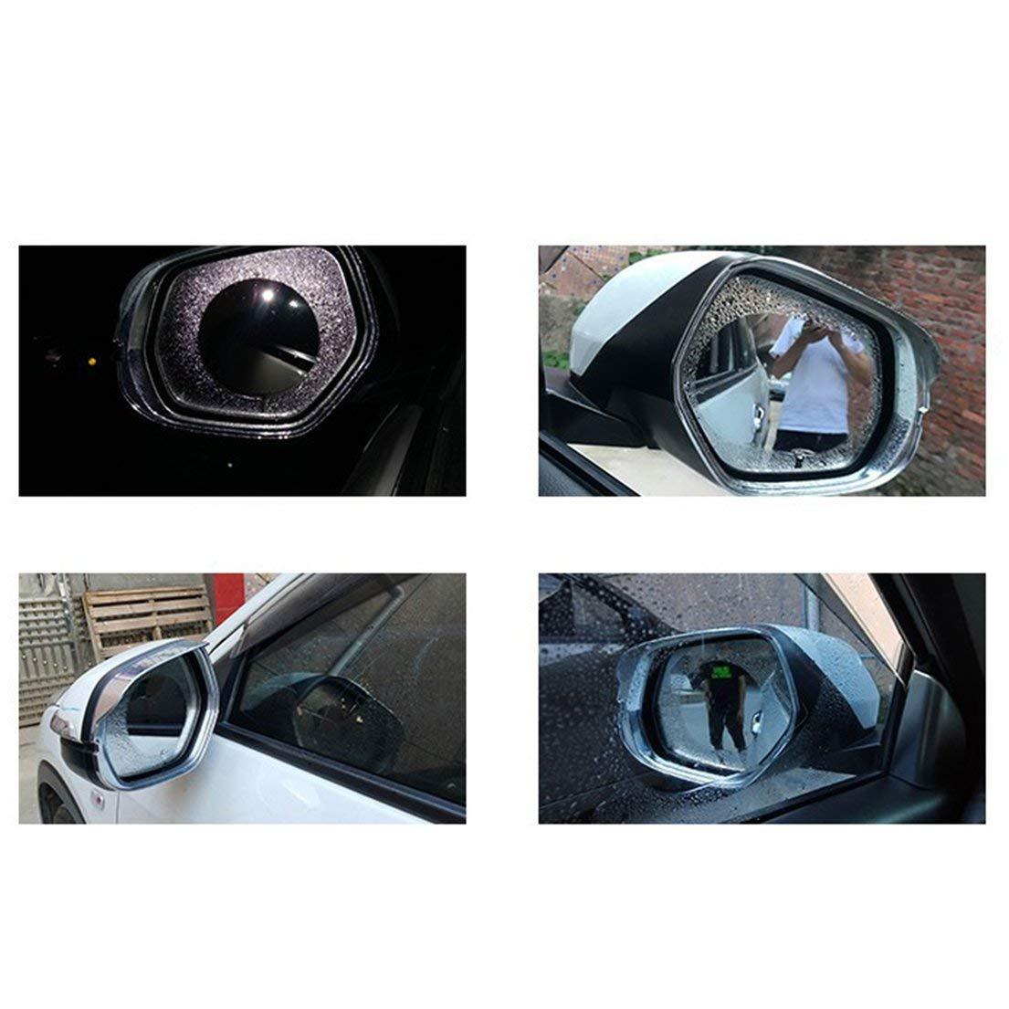 Film de r/étroviseur de voiture Film anti-eau anti-brouillard anti-eau pour voiture /Étanche /à la pluie /Étanche r/étroviseur fen/être Clear Film DFHJSXD