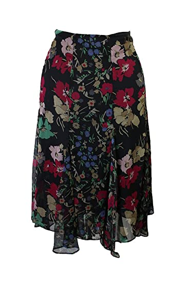 d207d361482 Lauren Ralph Lauren Womens Plus Ruffled Floral Print A-Line Skirt at Amazon  Women s Clothing store