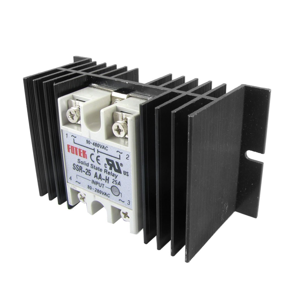 Single Phase Solid State Relay Ssr 25aa H 25a 80 280v Ac 90 480v Current Transformer In W Heat Sink Car Motorbike