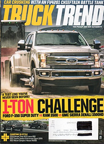 Circle Track Magazine (PICKUP & SUV TRUCK TREND Magazine 2017 Issue 1-TON CHALLENGE:FORD F-350 SUPER DUTY vs RAM 350 vs GMC SIERRA DENALI 3500HD Car Crushing With FV4201 Chieftain Battle Tank)