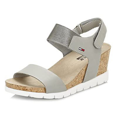 c2aca99ee Tommy Hilfiger Womens True Grey Wedge Sandals  Amazon.co.uk  Shoes   Bags