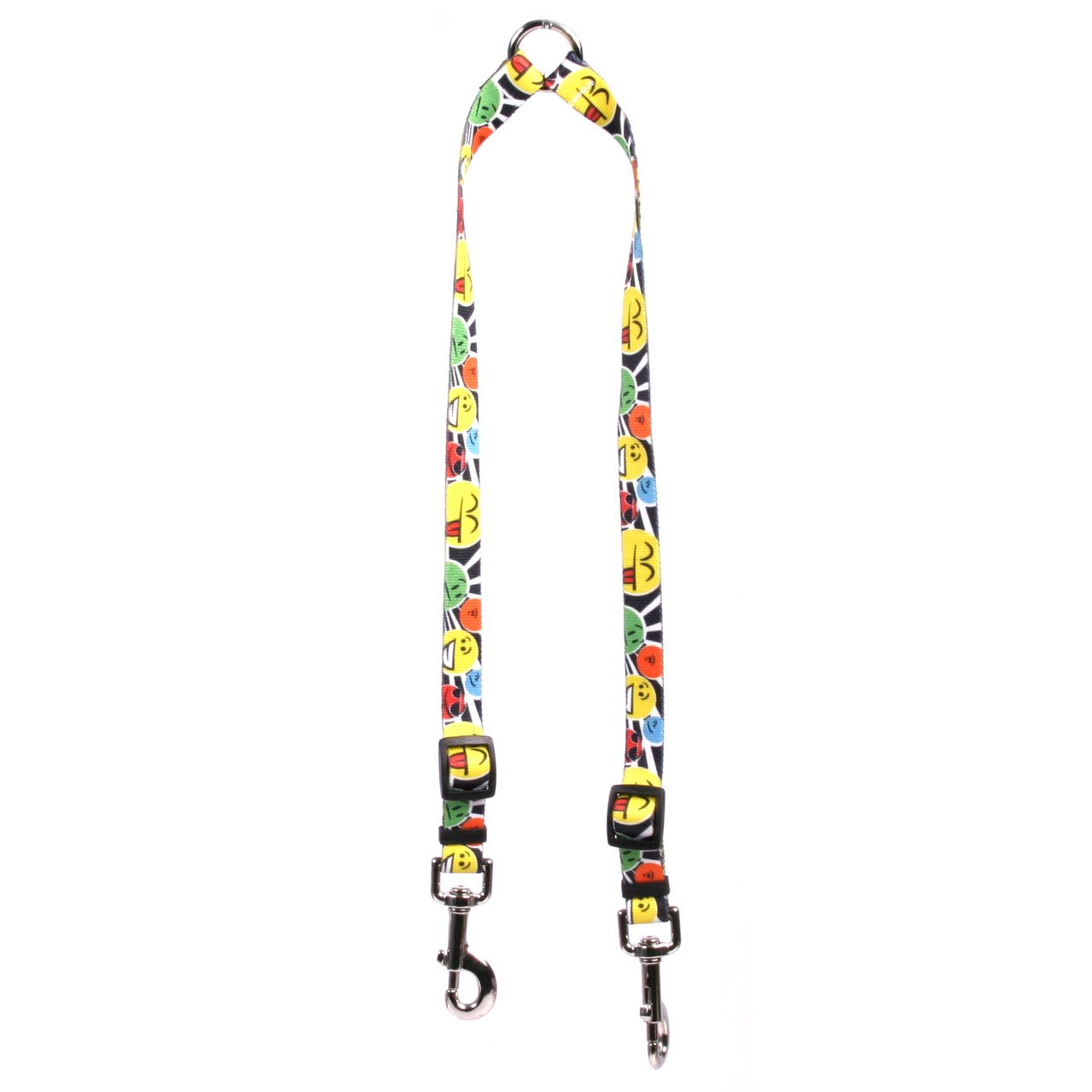 Yellow Dog Design Smiles Coupler Dog Leash-Size Medium-3/4 inch Wide and 12 to 20 inches Long