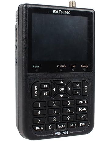 Satlink WS-6906 - Localizador digital de señal de satélite (pantalla 3.5