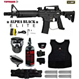 MAddog Tippmann U.S. Army Alpha Black Elite Tactical Starter Protective HPA Paintball Gun Package