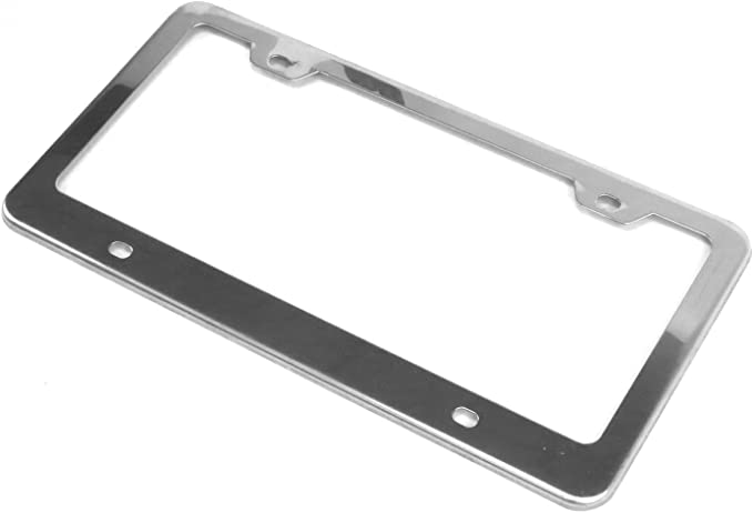 with Bolts and Caps Vintage Parts 9212 Chrome License Plate Frame