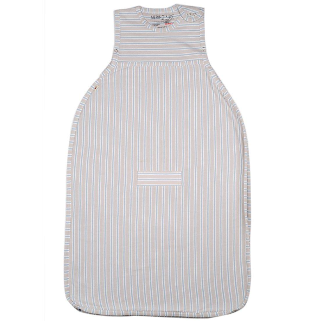 Merino Kids Winter-Weight Baby Sleep Bag For Babies 0-2 Years, Light Grey/Grey Stripe