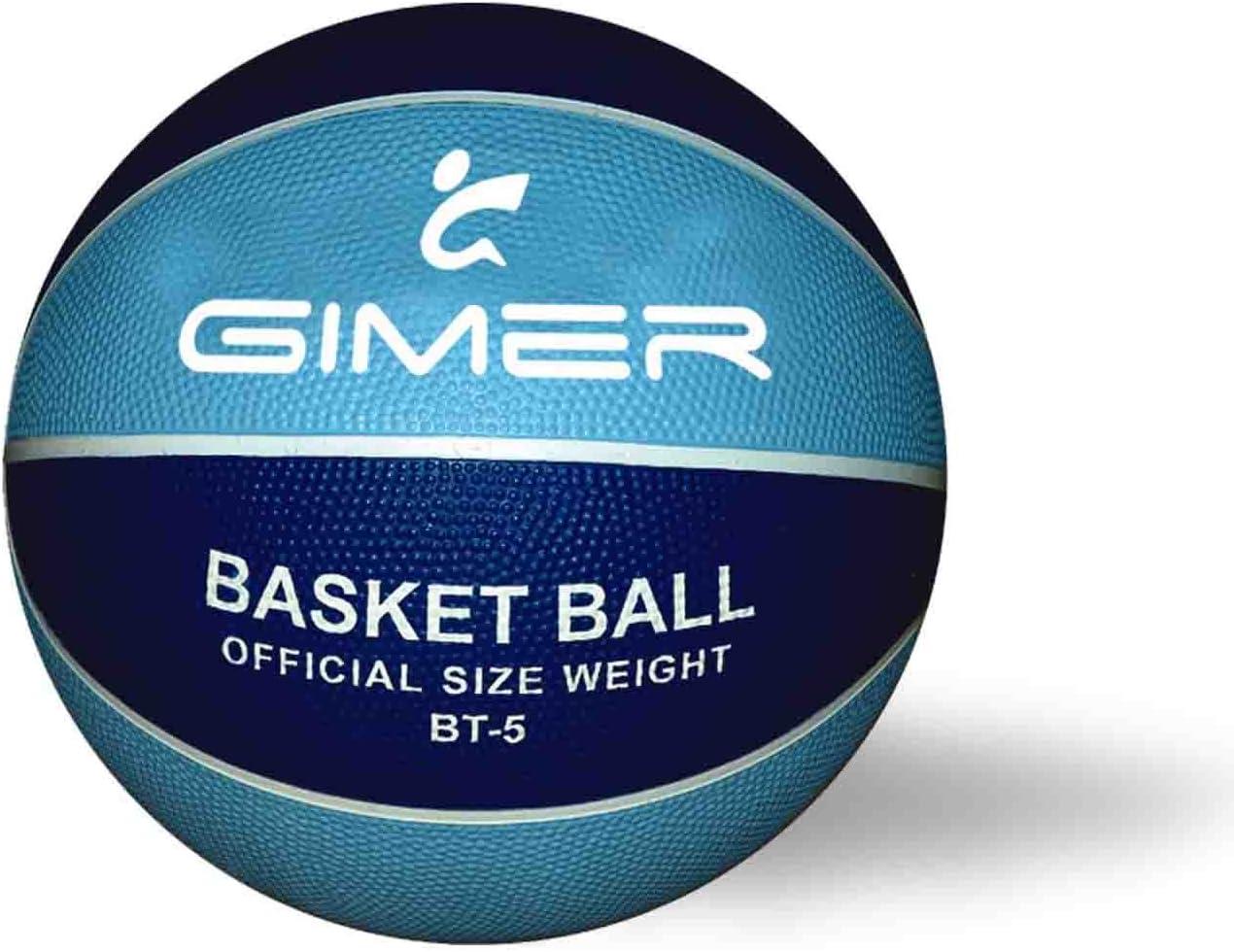 GIMER, balón Baloncesto Unisex Infantil, Azul, 28 x 16 x 7 cm ...