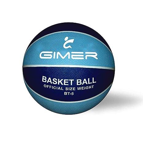 GIMER, balón Baloncesto Unisex Infantil, Azul, 28 x 16 x 7 ...