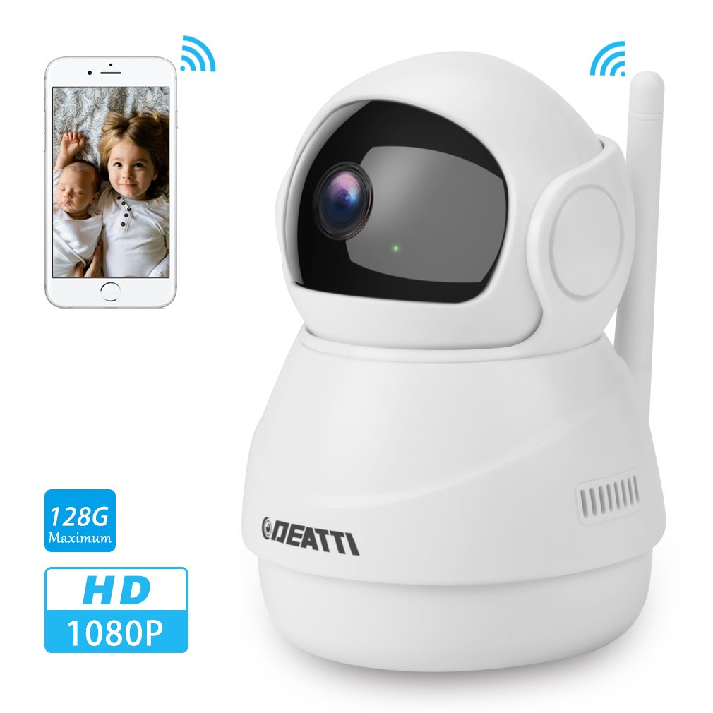 360 Wireless Security Camera 1080P for Baby Monitor,Pet Camera and Home Surveillance with Two Way Audio, Pan Tilt and Phone APP from DEATTI by DEATTI
