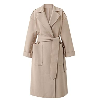 the best attitude d7131 47a6e Frashing Damen Mantel Damen Mantel Trenchcoat mit Gürtel ...