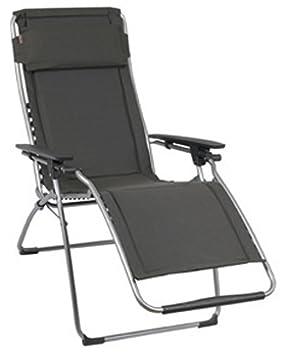 lafuma fauteuil relax position rglable structure en acier hle polycoton matelass futura - Chaise Longue Relax