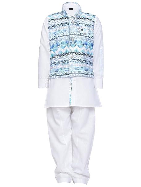 b3905f71b6 AJ Dezines kids ethnic wear kurta pajama waistcoat set for boys  (006 WHITE 1)