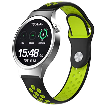 Dollcora for Huawei Watch 1 2, Soft Silicone Quickfit Replacement Wristband Strap Compatible with Huawei Watch 1/Honor S1/Fossil Gen 4 Q Venture ...