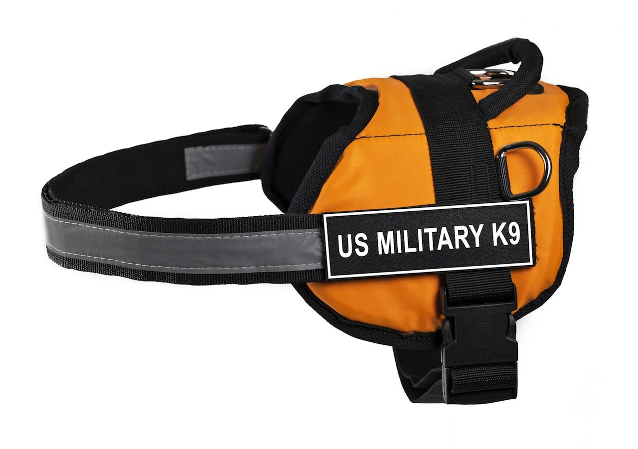 Dean & Tyler 21 to 26-Inch US Military K9  Works Harness, X-Small, orange Black