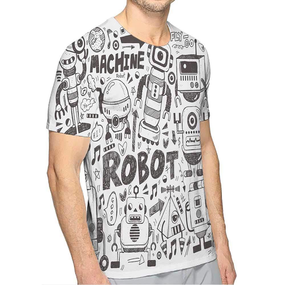 PRUNUS T-Shirt Yellow for Men Fashion Mens 3D Top Tees