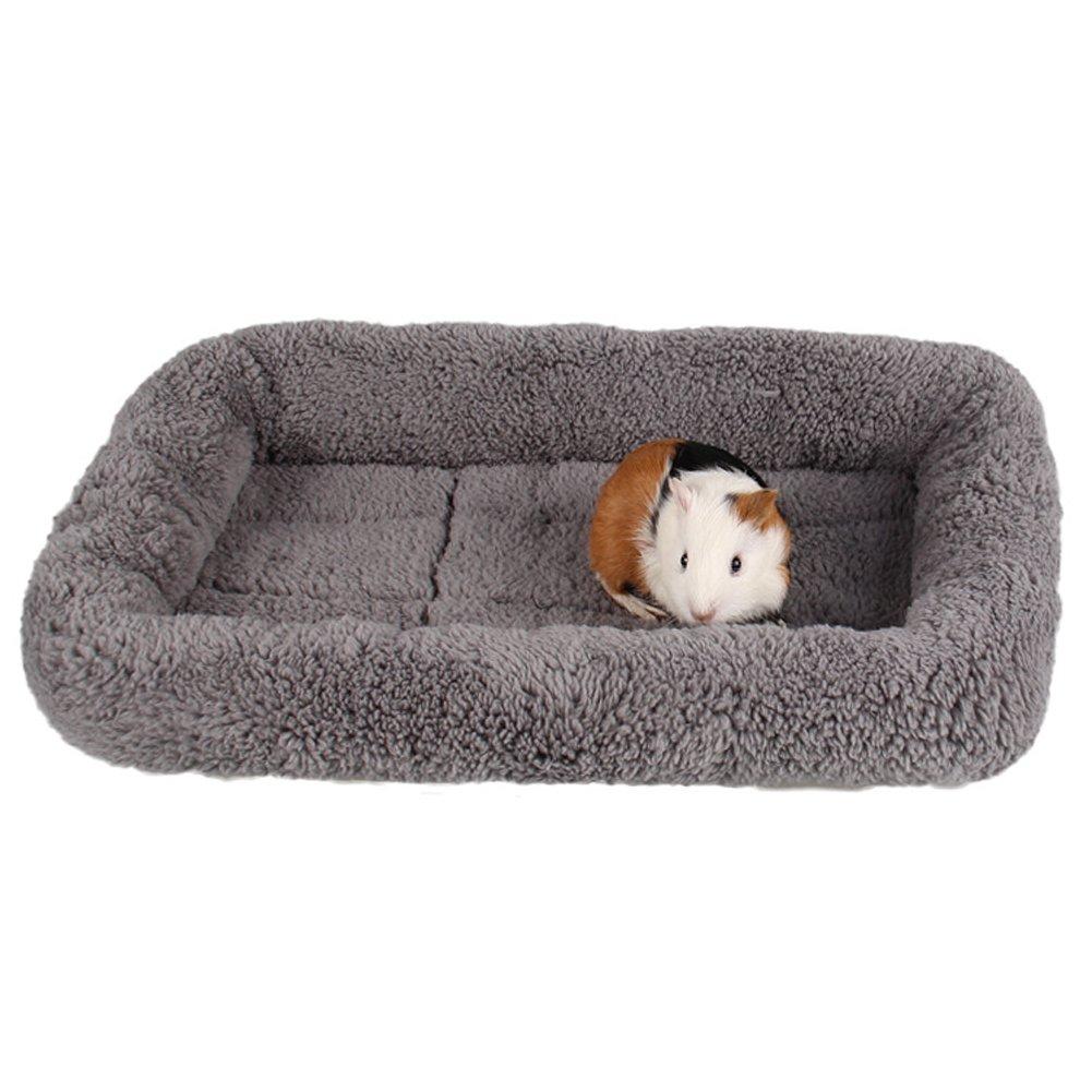Saymequeen Pet Mattress Cat Dog Sofa Bed Vehicle Mats Plush Bolster Kennels Crates (L:72cm50cm, Gray)