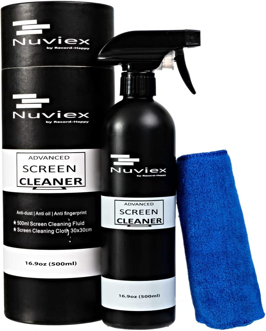 Screen Cleaner Solution Spray Kit – Premium Cleaning Fluid for LCD LED Tv's laptops and Tablets with Microfiber Anti-Static Cloth. 17oz Bottle