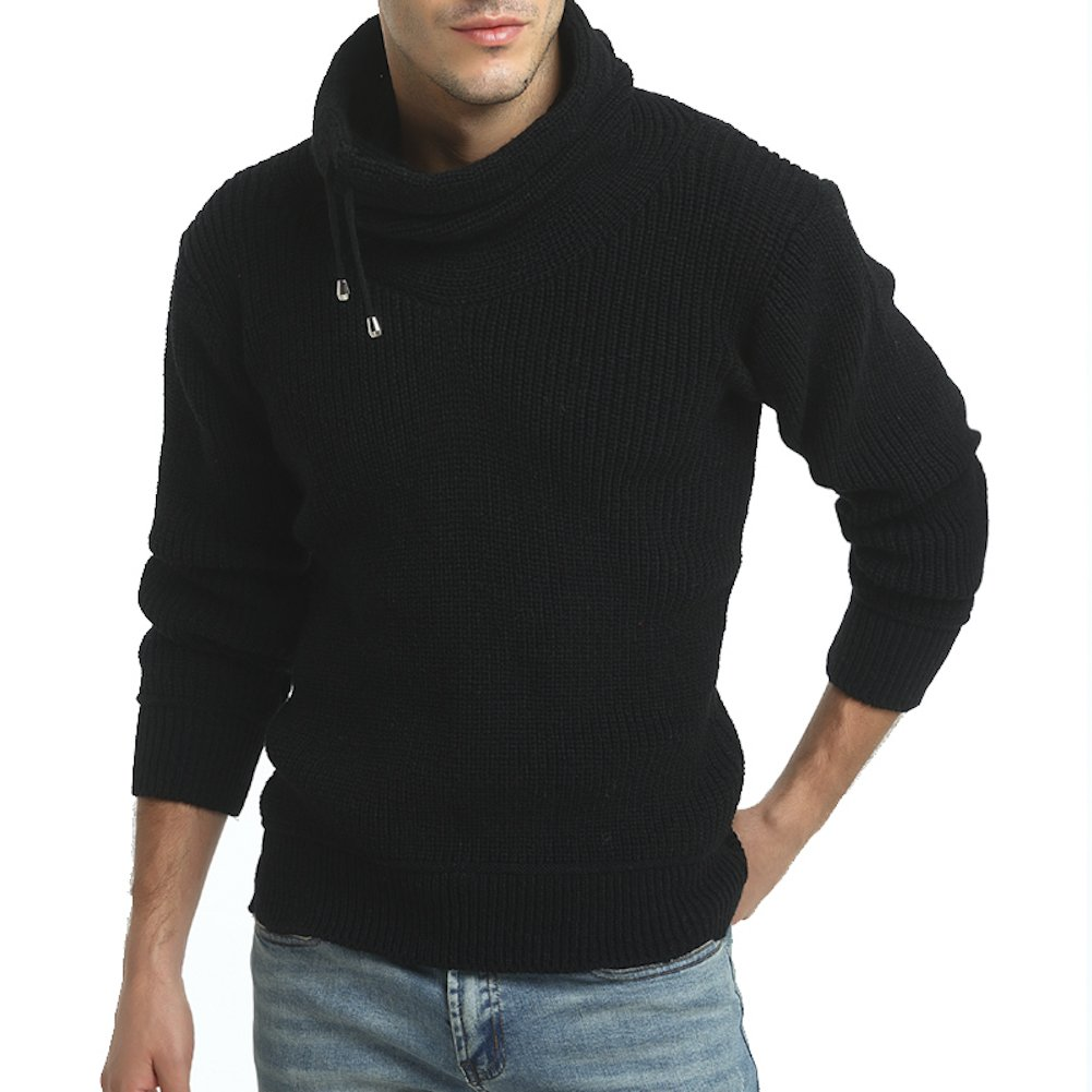 WSGYJ Casual Men Sweater Man Winter Urban Turtleneck Sweaters C55