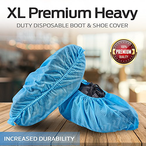 HouseHold Impressions 120 Pack Extra Thick Large Disposable Blue Shoe & Boot Covers for Indoor/Outdoor & Traveling | 60 Pairs of Non-Slip Booties for Home, Medical, & Workplace | One Size Fits Most by HouseHold Impressions (Image #8)