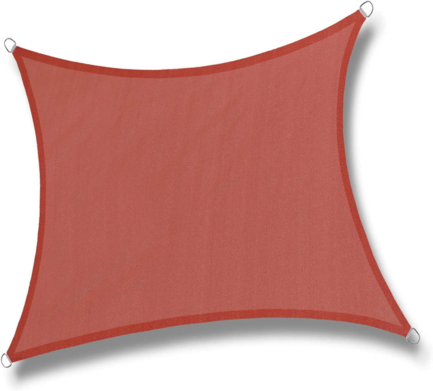 LOVE STORY 20' x 20' Square Terra Red Sun Shade Sail Canopy UV Block Awning for Outdoor Patio Garden Backyard