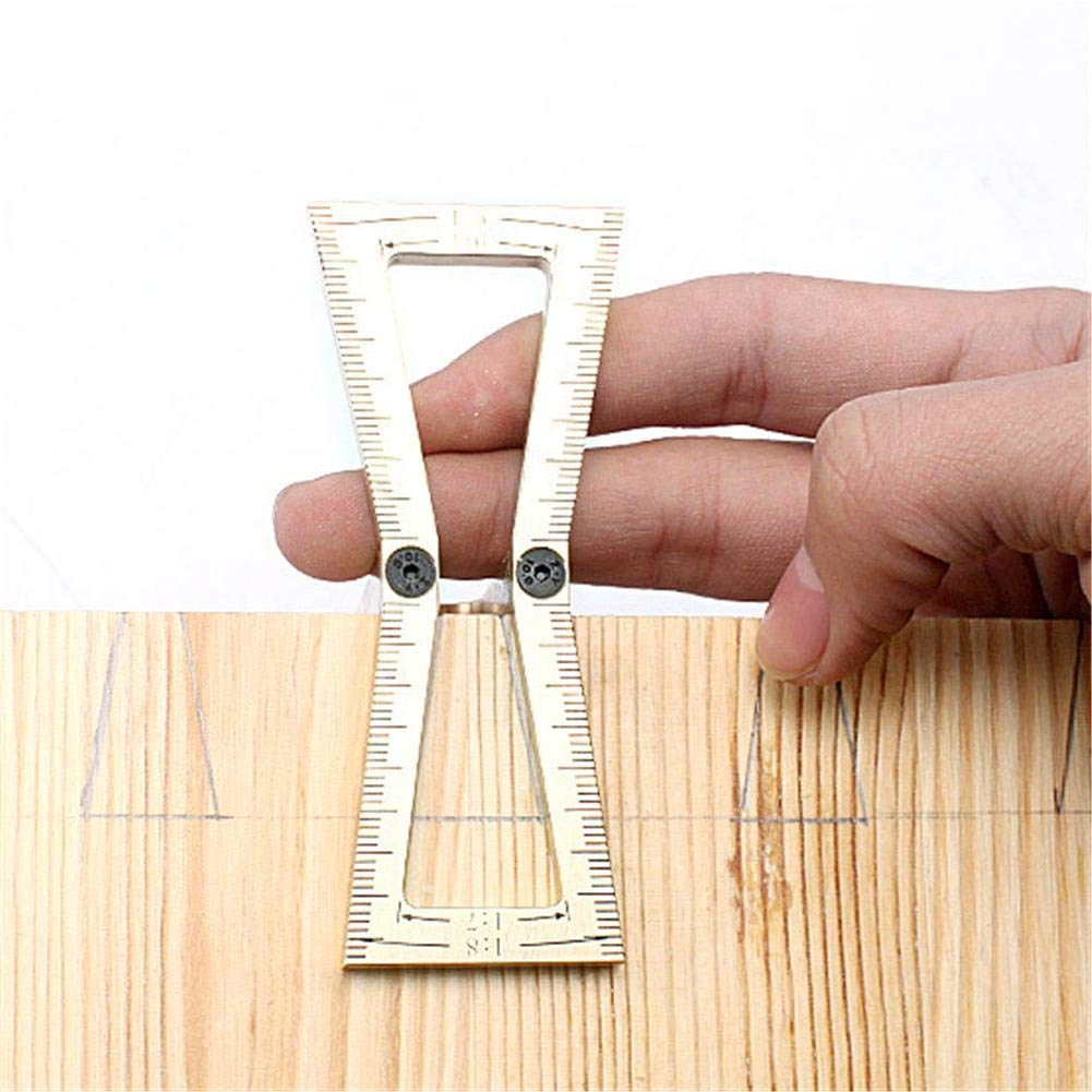 6 y 1 8 para trabajar la madera 5-1 mango de madera cortado a mano Dovetail guide tool Dovetail Marker modelo cola de milano Tama/ño 1 7-1