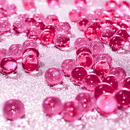 Hicarer 10000 Pieces Vase Filler Beads Gems Water Gel Beads Growing Crystal Pearls Wedding Centerpiece Decoration (Rose Red)