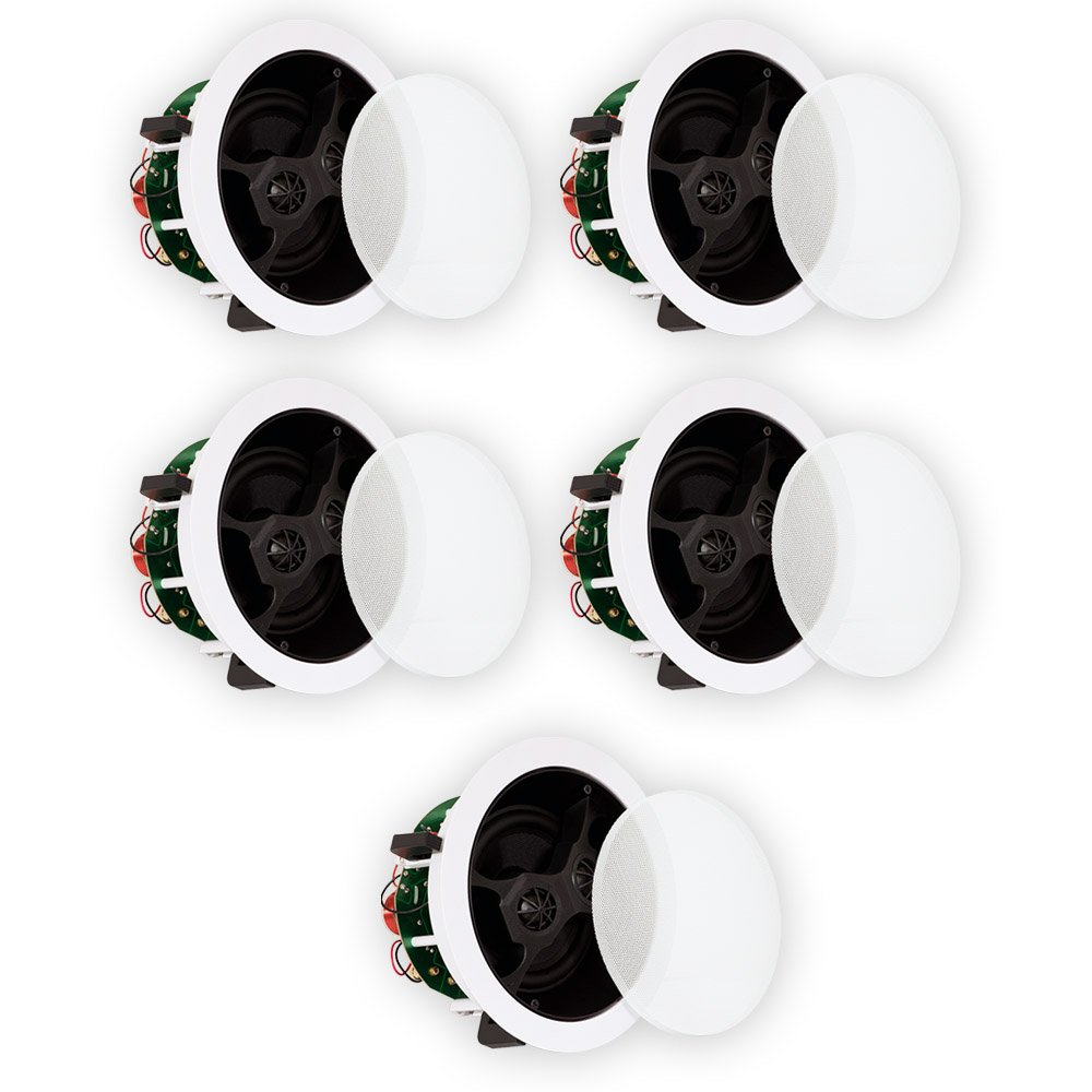 Theater Solutions TS650S In Ceiling 6.5'' Stereo Speakers 2 Channel Each Home 5 Speaker Set 5TS650S by Theater Solutions