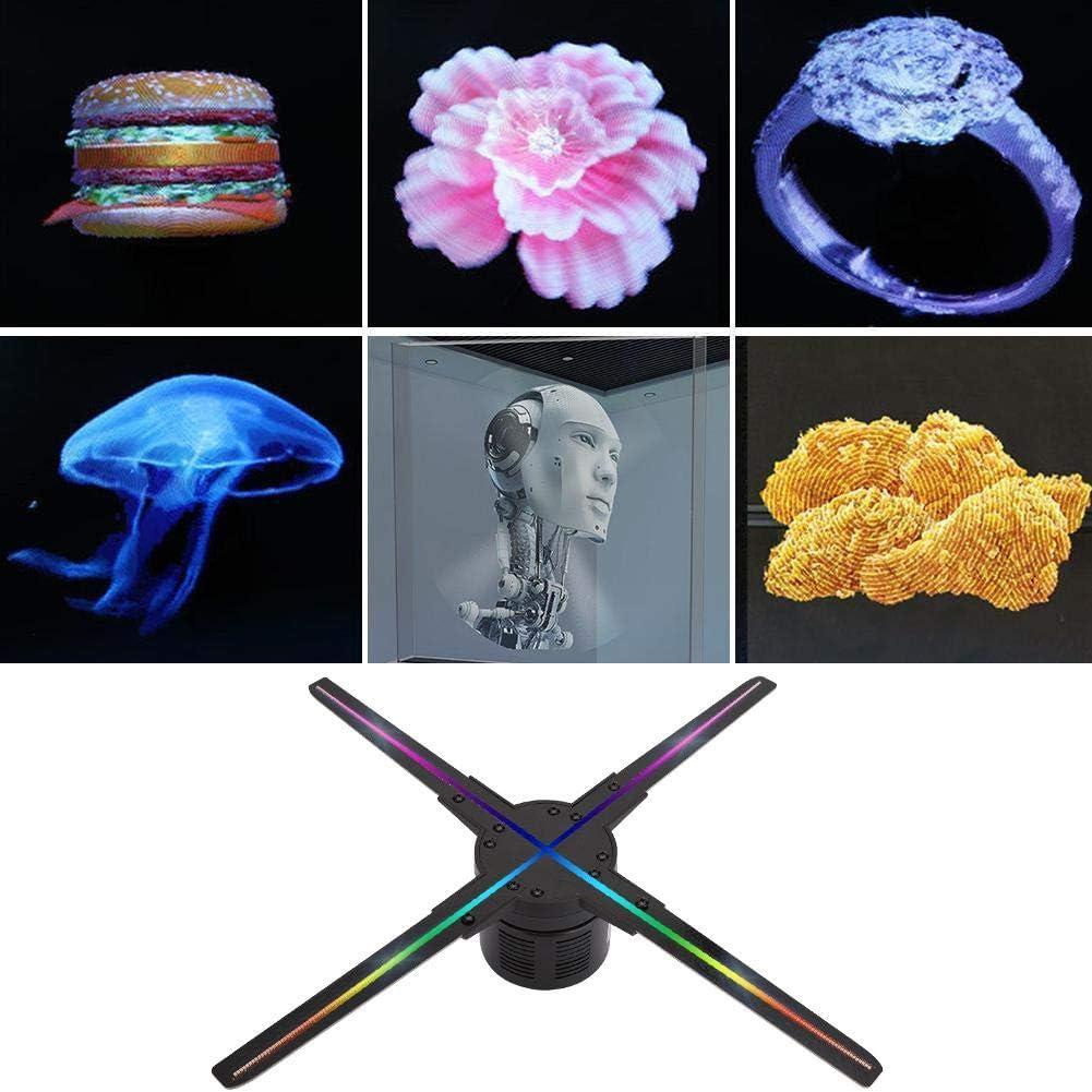 Tangxi Pantalla de Ventilador Holograma 3D 500,000 p/íxeles M/áquina de Publicidad Ventilador de Ojo Desnudo Hologr/áfico LED EU 512 LED Proyector de Publicidad de Medios Hologr/áficos Ventilador