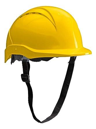 ACE Patera Casco Obra - Casco Seguridad - Casco de trabajo con cierre de rosca, ventilado y ajustable - Amarillo: Amazon.es: Industria, empresas y ciencia