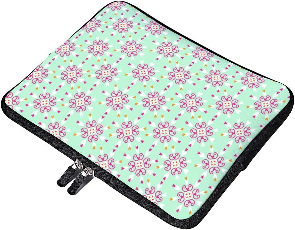 Little Pink Flower Pattern 15 Inch Protective Laptop Sleeve Ultrabook Notebook Carrying Case Compatible with MacBook Pro MacBook Air Tablet Briefcase Bag
