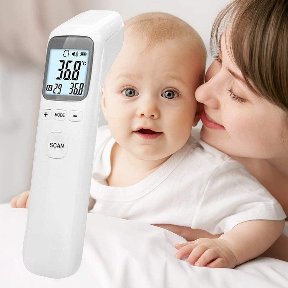 adultos term/ómetro profesional infrarrojo digital sin contacto para beb/é ni/ños FVE Term/ómetro port/átil para frente lecturas instant/áneas