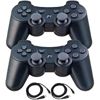 Kepisa Wireless Controllers for PS3 Playstation 3 Dual Shock, Bluetooth Remote Joystick Gamepad for Six-axis with…
